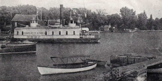 Image of Essex, NY from vintage Essex-Charlotte ferry brochure