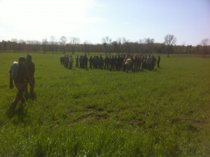Here are the farm hackers in the field. (Image courtesy of Essex Farm)