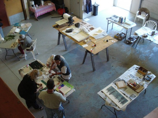 Printmaking Workshop with Jim VenHoven Jr.