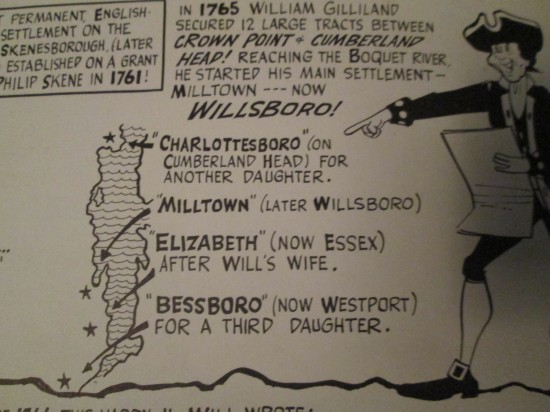 Map of Gilliland Townships (Credit: Our Champlain Story by Sid Couchey)