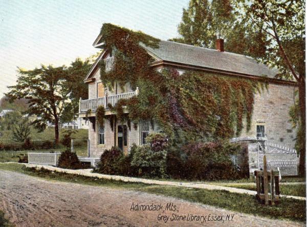 Belden Noble Memorail Library (Vintage Postcard)