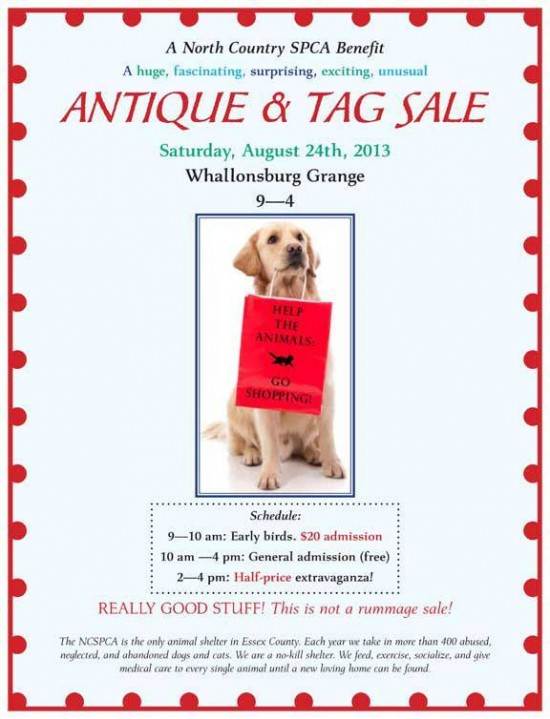NCSPCA Antique and Tag Sale