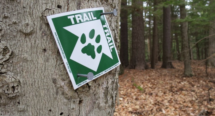 CATS Trail marker on tree (Credit: virtualdavis)