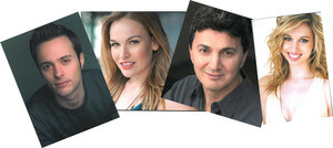 The cast of My Way: (l to r) Erik Keiser, Tiffan Borelli, Paul Binotto, and Maggie Politi. (Credit: Depot Theatre)