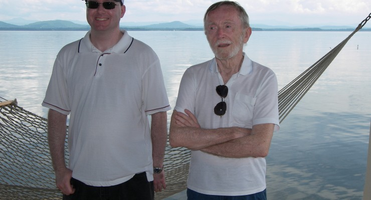 George McNulty and Jason McNulty at Rosslyn Boathouse, summer 2013 (Credit: George McNulty)