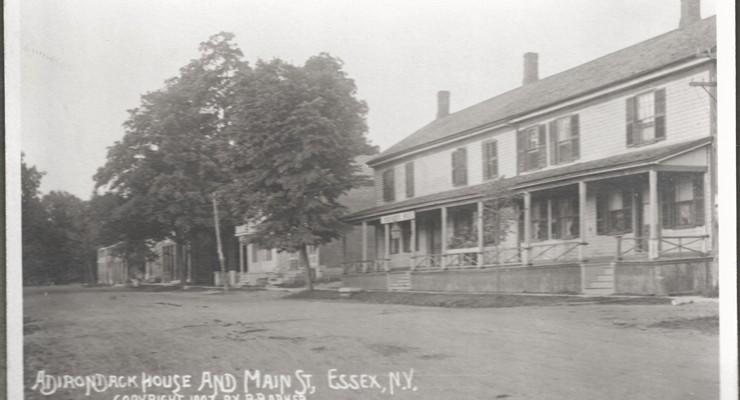 Adirondack House and Main Street, Essex, NY