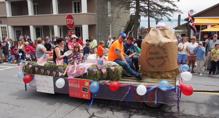 Essex 4th of July Parade: Family on Float (Credit: Jeff Moredock)