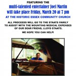 Jazzical Benefit Concert for Staats (flyer)