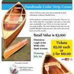 High Peaks Hospice Canoe Raffle