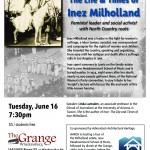 Milholland Grange Lyceum Poster