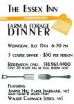 Farm Dinner at The Essex Inn