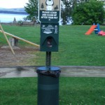 New dog waste receptacle at Begg's Park