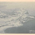 Vintage Postcard: Aerial View of Willsboro Point