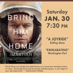 Champlain Valley Film Series to Show THE MARTIAN