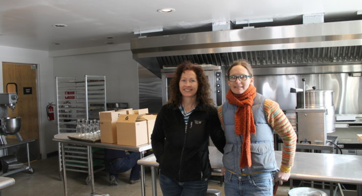 Susie Smith (left) and Jori Wekin co-coordinate Hub on the Hill in Essex, NY.