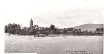 Vintage Postcard: Crown Point Lighthouse
