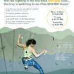 Crux Fall/Winter Hours Begin Sept. 23