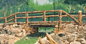Old Stump Bridge Painting by Sid Couchey