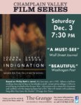 Champlain Valley Film Series to Show INDIGNATION