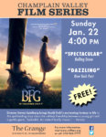 Champlain Valley Film Series to Show THE BFG