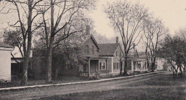 Vintage Postcard: Lake Street, Essex, NY (Source: Rosslyn Redux)