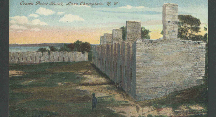 Vintage Postcard: Crown Point Ruins circa 1910s