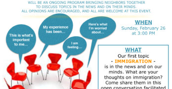 Community Discussion Series to Begin at Library