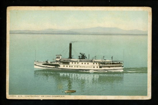 Vintage Postcard: Steamer Chateaugay