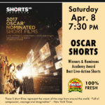 Champlain Valley Film Series to Show Live-Action Oscar Shorts