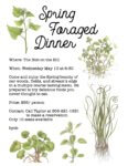 Spring Foraged Dinner at the Hub
