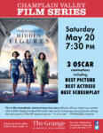 Champlain Valley Film Series to Show HIDDEN FIGURES