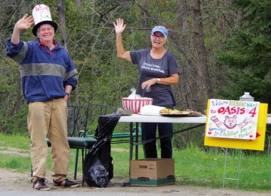 """On Saturday May 13, hikers on CATS Grand Hike to the Essex Inn will be happily welcomed as they arrive at the """"oases"""" along the route, where they'll find refreshments and good cheer. To learn about joining the hike, go to champlainareatrails.com."""