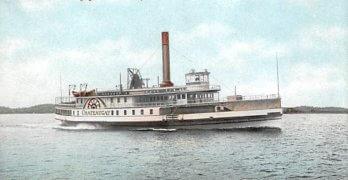 Vintage Postcard: Chateaugay Steamer