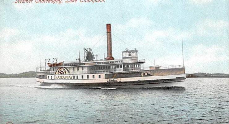 Vintage Postcard: Steamer Chateaugay