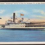 Vintage Postcard: Ticonderoga Steamer