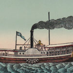 Vintage Postcard: Steamboat