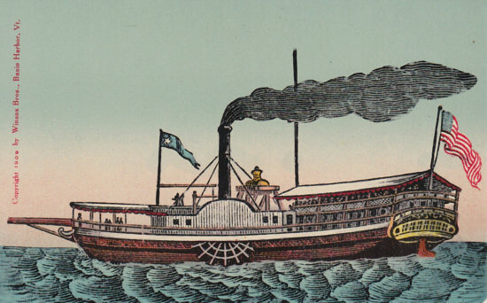 Vintage Postcard: Steamboat