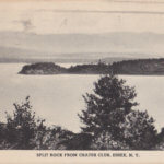 Vintage Postcard: Split Rock View from Crater Club