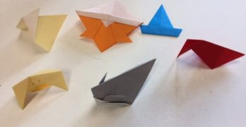 Origami Class with Bernie Douglas at the Essex Library