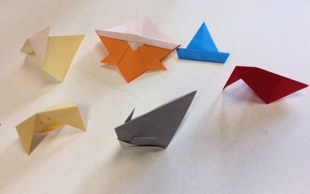 Origami at Belden Noble Memorial Library