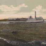 Vintage Postcard: Vermont Steamer in Westport Bay